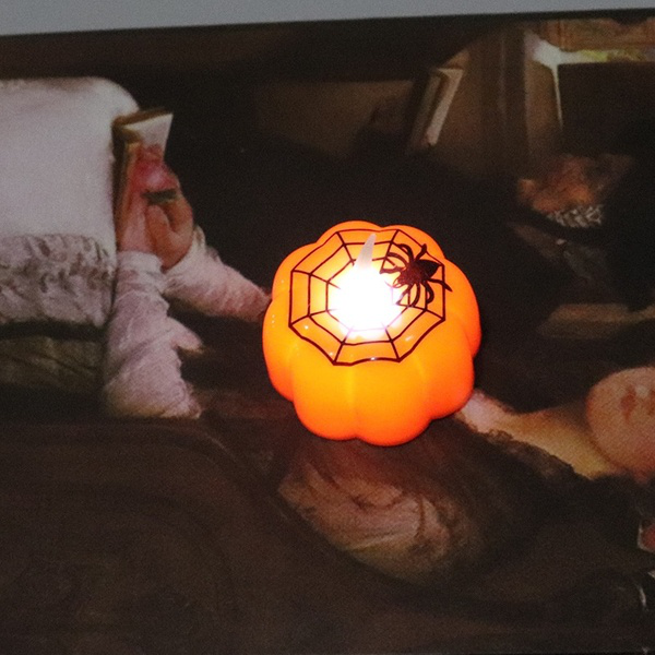 Classic candle lantern pumpkin design small led durable indo