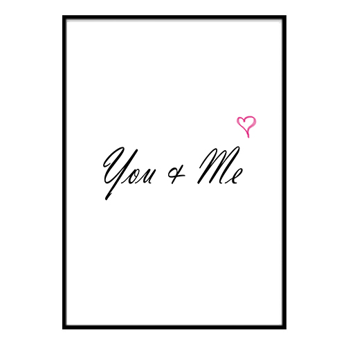 Poster - You and Me Heart A3 30x40cm 30x40cm 30x40cm 4ecab0