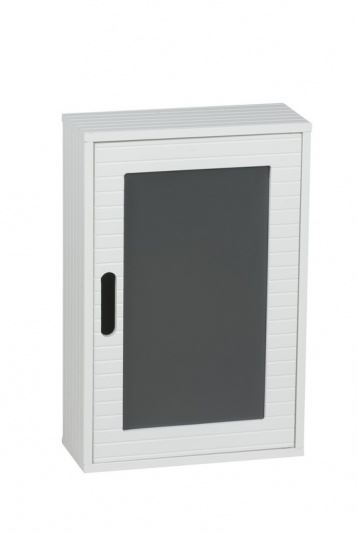 Bathroom white wooden wall hanging cabinet