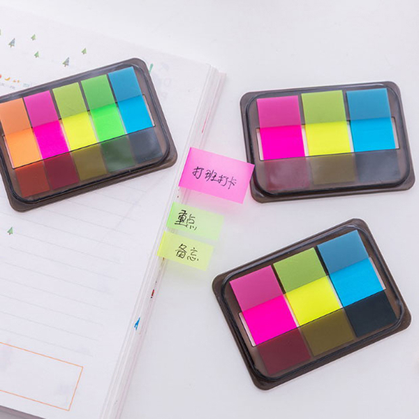 60/100pcs fluorescence sticky notes memo flags bookmark marker t