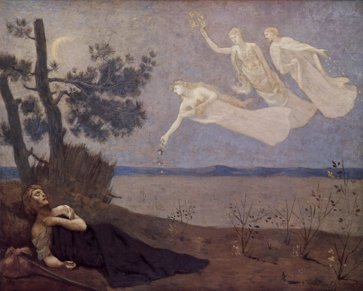The Dream,Pierre Puvis de Chavannes,50x40cm