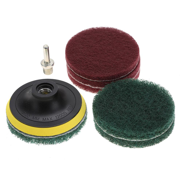 tile scrubber metal polishing cleaning pads brushes drill