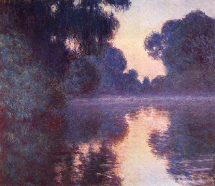 Arm of the Seine near Giverny at Sunrise,Claude Monet