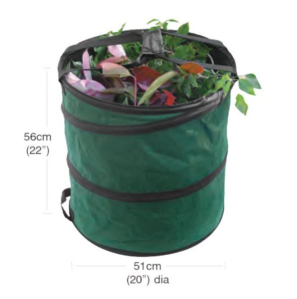 Medium Pop Up Garden Bag Collecting Rubbish Waste Grass Tidy Tidy Tidy Sac d9b4ff
