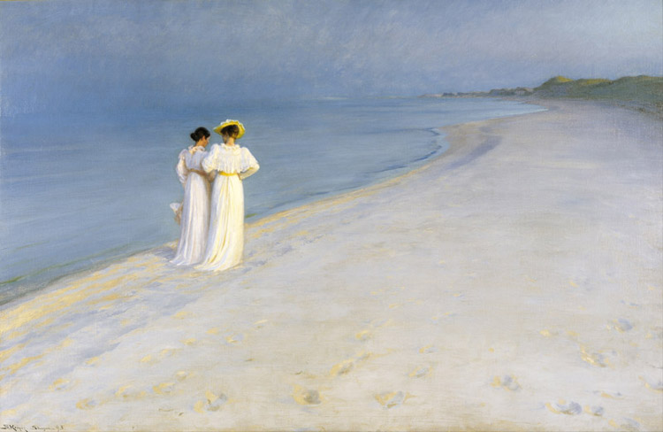 Summer Evening on the Southern,Peter Severin Kroyer,60x40cm