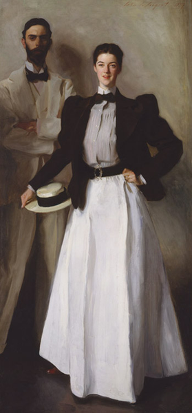 Mr and and and Mrs Isaac Newton Phelps,John Singer Sargent,80x40cm eb4c32