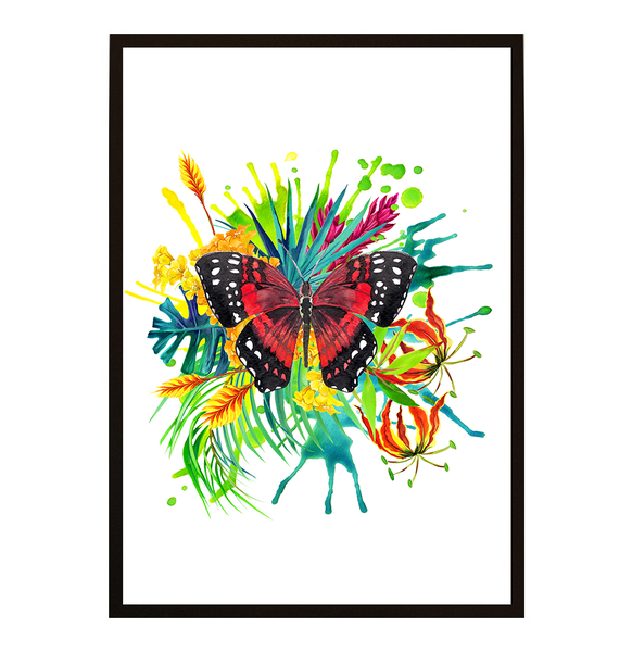 Poster - Butterfly tropical No.3 30x40cm