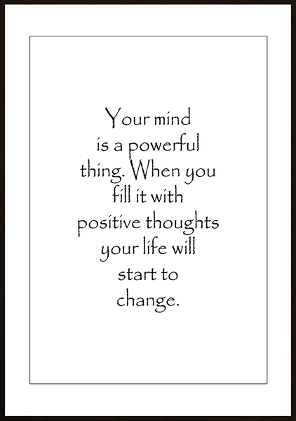 Poster - Your mind is powerful No.6 40x50cm