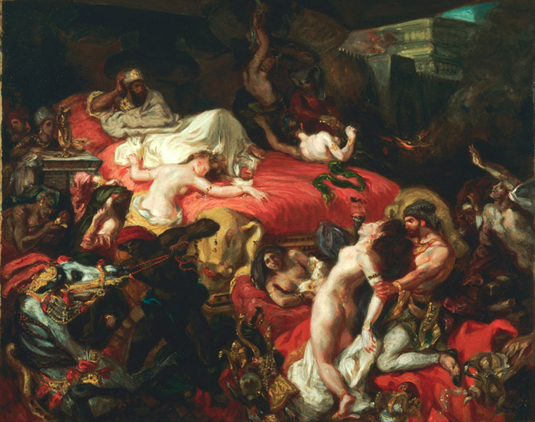 The Death of Sardanapalus,Eugene Delacroix,50x40cm