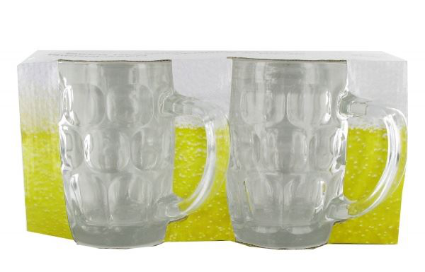 2 piece beer glasses mugs 54ml for lager cider drink alcohol bar