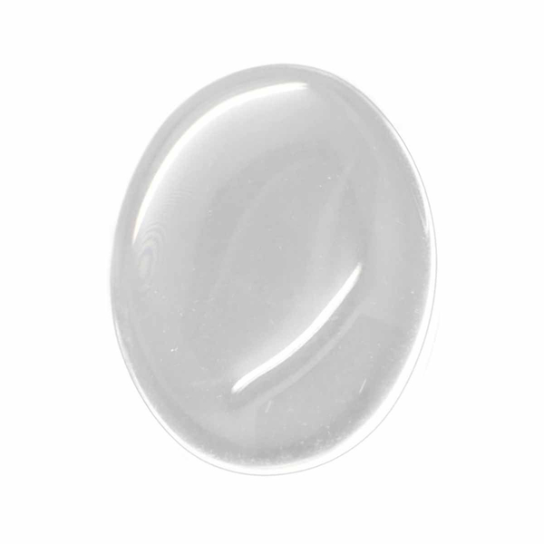 Glascabochon 25×18 mm oval 15-pack