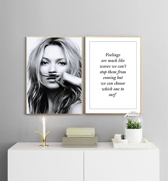 Poster - Feelings are much like waves No.3 No.3 No.3 30x40cm 322271