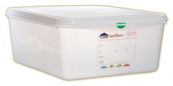 PROESSIONAL COLOUR CODED STORAGE CONTAINER GN 2/3 CAPACITY 13.5L