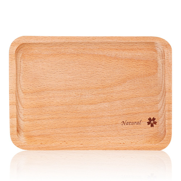 Natural wooden plate food snack tea dessert serving tray pho