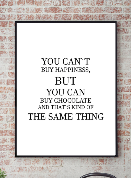 Poster - You cant buy happiness but you can can can buy No.5 21x30cm e571a0