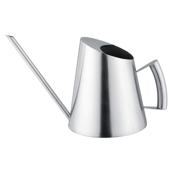 1500ml stainless steel watering can brushed garden planting