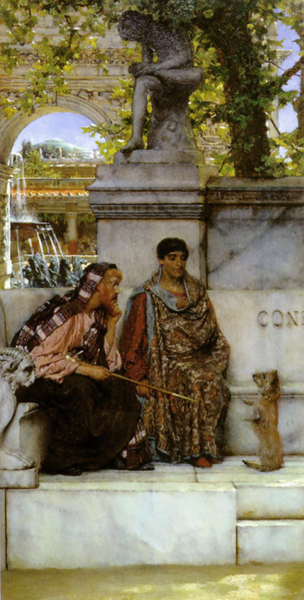 In the Time of Constantine,Alma-Tadema Sir Lawrence,32.2x16cm