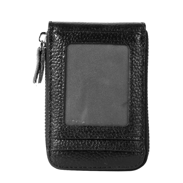 Anti-theft leather streamlined wallet card holder rfid hardw