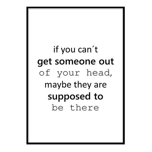 Poster - If you can´t get A3 30x40cm