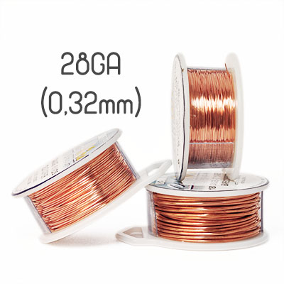 Solid copper wire 26ga (0,4mm grov)