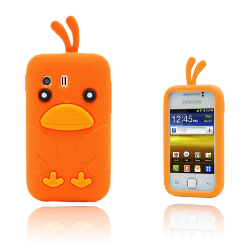 Funny chicken (orange) samsung galaxy y skal