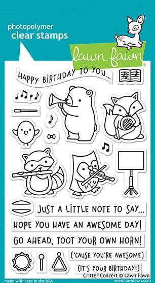 Clear stamps 4″x6″ – lawn fawn – critter concert